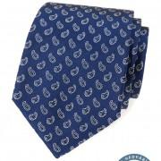 Kravata hedvábná v dárkové krabičce, modrá