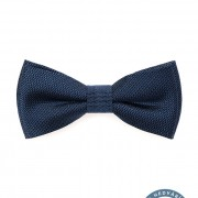 Motýlek PREMIUM hedvábný s kapesníčkem, modrá