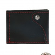 Pánská peněženka z pravé kůže, černá/červená