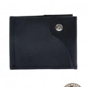 Pánská peněženka z pravé kůže, modrá/kolo
