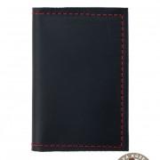 Pouzdro na karty a vizitky, černá/červená