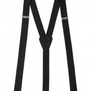 Šle Y s koženým středem zapínáním na klipy - 25 mm, černá, černá kůže