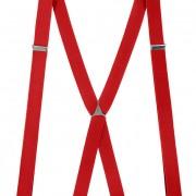 Šle X s kovovým středem a zapínáním na klipy - 25 mm, červená, kovový střed