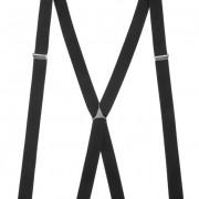 Šle X s kovovým středem a zapínáním na klipy - 25 mm, černá, kovový střed