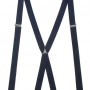 Šle X s kovovým středem a zapínáním na klipy - 25 mm, tmavě modrá, kovový střed