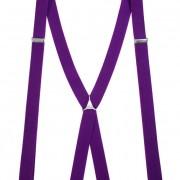 Šle X s kovovým středem a zapínáním na klipy - 25 mm, fialová, kovový střed