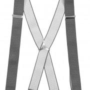 Šle X s kovovým středem a zapínáním na klipy - 35 mm, šedá s bílým puntíkem, kovový střed
