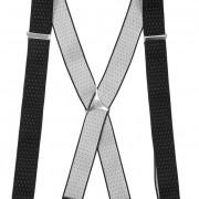 Šle X s kovovým středem a zapínáním na klipy - 35 mm, černá s bílým puntíkem, kovový střed