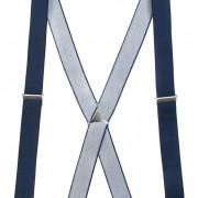 Šle X s kovovým středem a zapínáním na klipy - 35 mm, tmavě modrá, kovový střed