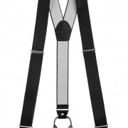 Šle Y s koženým středem a zapínáním na klipy - 35 mm, černá, černá kůže