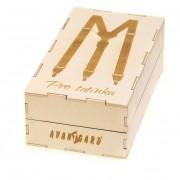 """Dřevěná dárková krabička na šle """"Pro tatínka"""", přírodní dřevo"""
