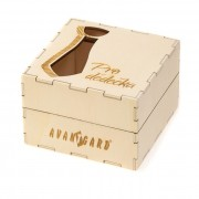 """Dřevěná dárková krabička """"Pro dědečka"""", přírodní dřevo"""