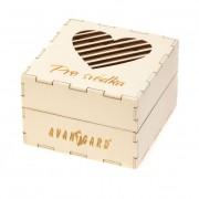 """Dřevěná dárková krabička """"Pro svědka"""", přírodní dřevo"""
