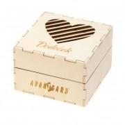 Dřevěná dárková krabička Dědeček, přírodní dřevo