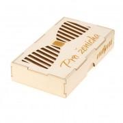 """Dřevěná krabička na motýlek """"Pro ženicha"""", přírodní dřevo"""