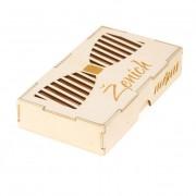 Dřevěná krabička na motýlek Ženich, přírodní dřevo