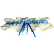 Šampáň podvazek široký s modrou stuhou