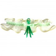 Šampáň podvazek široký se zelenou stuhou
