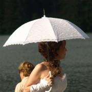 Svatební deštník - bílý