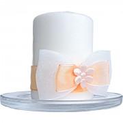 Svíčky na svatební stůl meruňkové