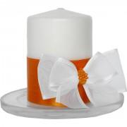 Svíčky na svatební stůl oranžové