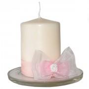 Svíčky na svatební stůl růžové