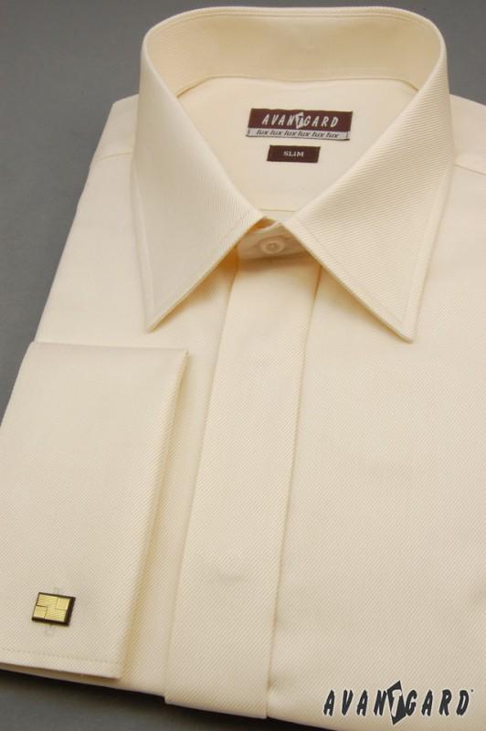 Pánská košile SLIM - krytá léga e5f1cf6c18