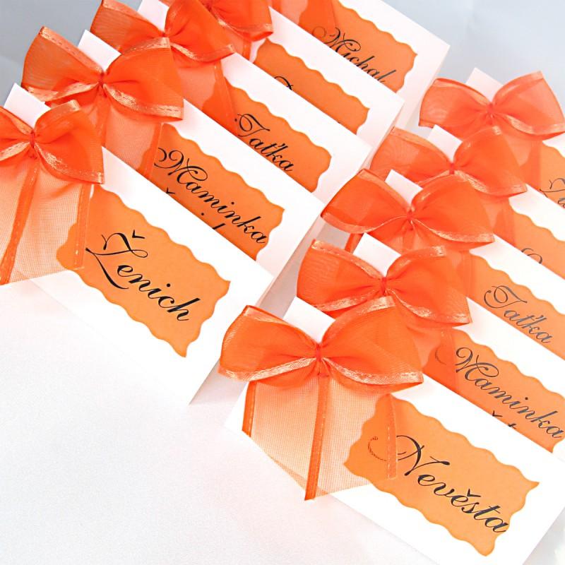 Jmenovky S Maslickou Oranzove Stylova Svatba