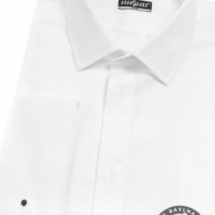 Pánská smokingová košile SLIM - krytá léga, MK, bílá