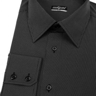 Pánská košile AVANTGARD SLIM dl. ruk., 2301- černá
