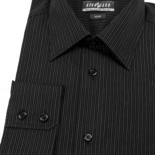 Pánská košile AVANTGARD SLIM dl. ruk., 2302- černá