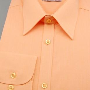 Pánská košile SLIM s dl.ruk., lososová