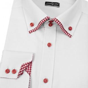 Pánská košile AVANTGARD SLIM dl. ruk., bílá