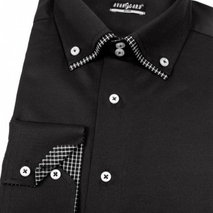 Pánská košile AVANTGARD SLIM dl. ruk., černá