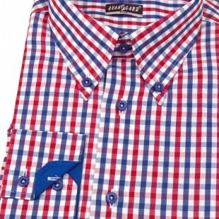 Pánská košile AVANTGARD SLIM dl. ruk., modrá