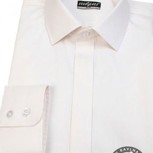Pánská košile SLIM kr.léga, smetanová
