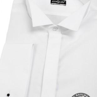 Pánská košile FRAKOVKA SLIM MK, v1-bílá