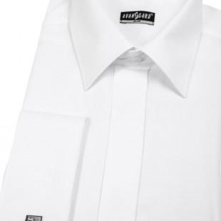 Pánská košile SLIM kr.léga, MK, bílá