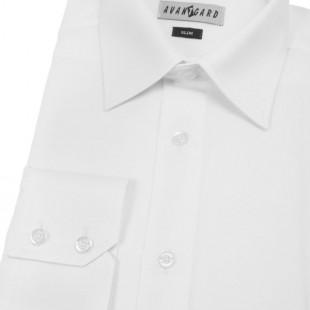 Pánská košile SLIM s dl.ruk., v1-bílá