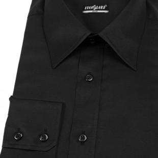 Pánská košile SLIM s dl.ruk., černá