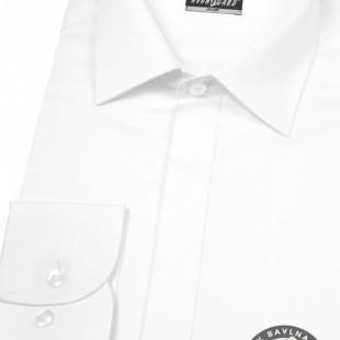 Pánská košile SLIM kr.léga, bílá hladká s leskem
