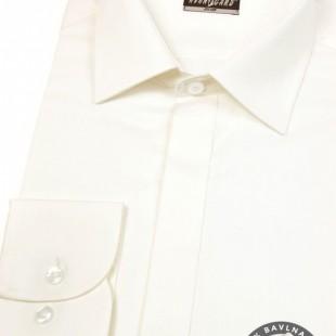 Pánská košile SLIM kr.léga, smetanová hladká s leskem