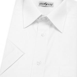 Pánská košile KLASIK s kr.ruk., v1-bílá