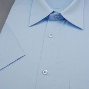 Pánská košile KLASIK s kr.ruk., v15-světle modrá