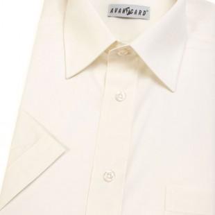 Pánská košile KLASIK s kr.ruk., v2-smetanová