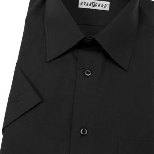 Pánská košile KLASIK s kr.ruk., v23-černá