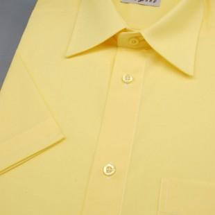 Pánská košile KLASIK s kr.ruk., v24-žlutá