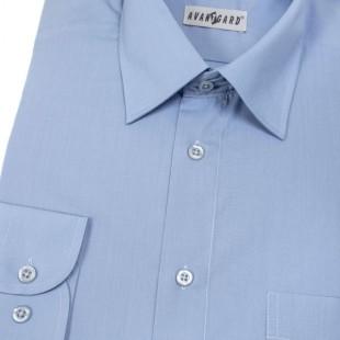 Pánská košile KLASIK s dl.ruk., v16-středně modrá