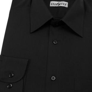 Pánská košile KLASIK s dl.ruk., v23-černá
