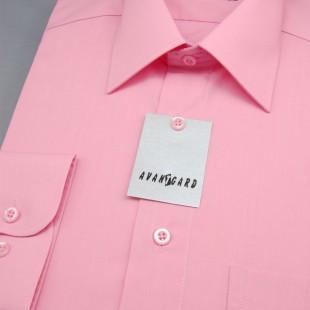 Pánská košile KLASIK s dl.ruk., v26-růžová